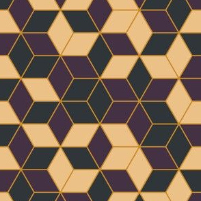 Geometric Beige Purple Gray