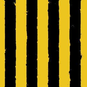 distress stripe black mustard yellow
