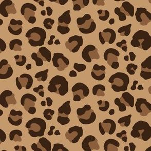 Leopard Spots - Classic Brown / Tan / Camel - Medium