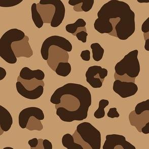 Leopard Spots - Classic Brown / Tan / Camel - Large