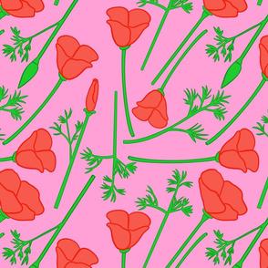 Acid Poppies Pink