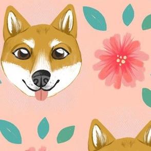 Shiba Inu Floral
