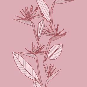 Vertical Bird Of Paradise Rose Tones