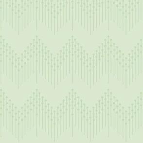 Bessie: 1920s Mossy Green Beaded Fringe, Flapper Fringe