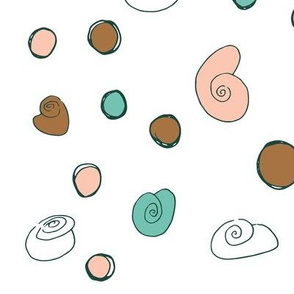 Stones and Snails on White