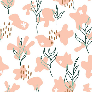 Floral Abstract seamless pattern background.