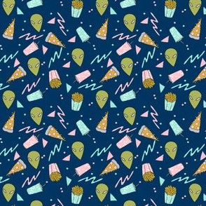 TINY - drive thru // space alien drive thru space junk food pizza design 90s design