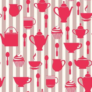red stripes breakfast