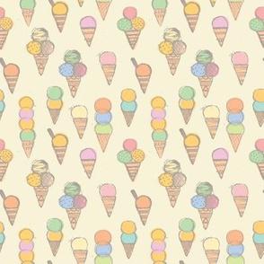"Ice Creams {Soft Pastel} - 4""x4"" repeat"