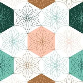 geo flower hexagon