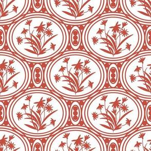 Rudbeckia White Red Geo-01