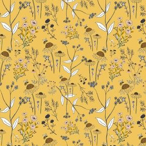 Flowers on gold Background - Bee Nice to Me Honey Collection
