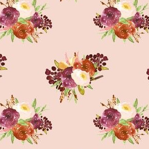 "4"" Cranberry Fall Florals // Peach Pink"