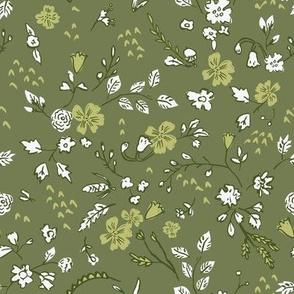 Woodfall Ditsy (olive) MED