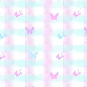 Pastel Gingham 'n' Butterflies