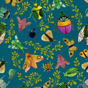 Beautiful Bugs {Teal} - large