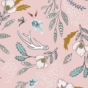 Woodfall Floral (mushroom pink) MED