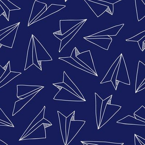 pocket treasure - paper planes - blue white