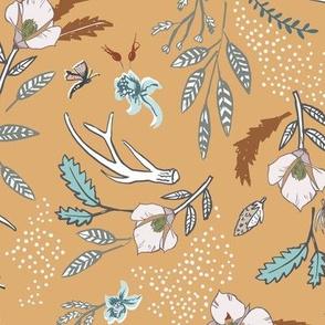 Woodfall Floral (gold) MED