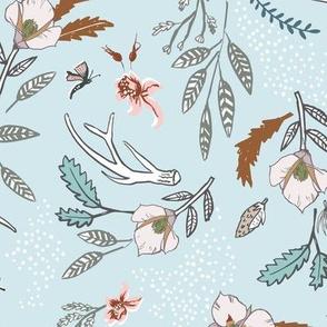 Woodfall Floral (sky blue) MED