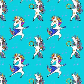 Rockin Unicorns in turquoise