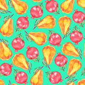 pears and pomegranate