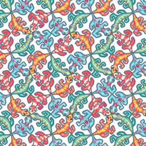 Tickly Tessellation on White