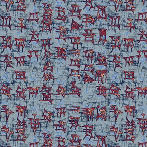 sumer_rust_denim_cuneiform