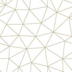 Geometric Mosaic // Gold and White