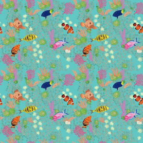 Coral with Tropical fish