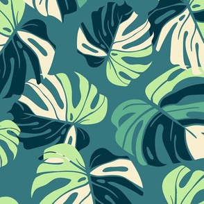 Monstera Leaves - green