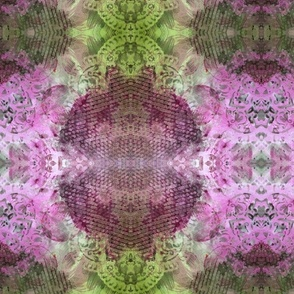 pink and green mandala