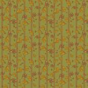 fall leaves striped darker green150