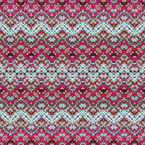 Pink Paisley Zigzag