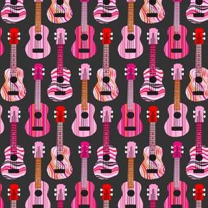 Pink, Red & Orange Ukuleles