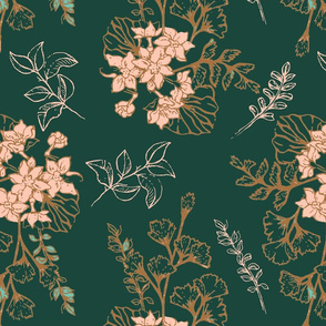 Vintage Floral-Limited Color Palette
