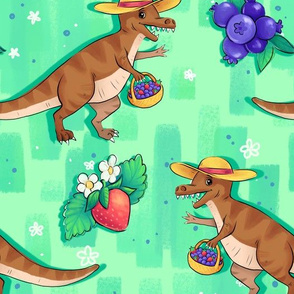 Berry Picking Dinosaurs