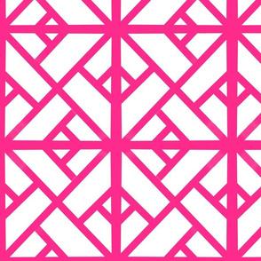 CHINOISERIE Geometric Pink