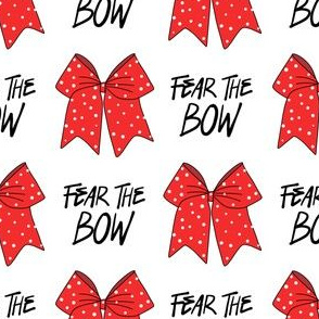 cheer fabric - cheerleading, school spirit, school sports, school, bow, fear the bow, cheer fabric - red