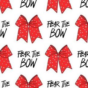 cheer fabric - cheerleading, school spirit, school sports, school, bow, fear the bow, cheer fabric - red