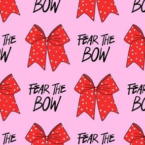 cheer fabric - cheerleading, school spirit, school sports, school, bow, fear the bow, cheer fabric - red and pink
