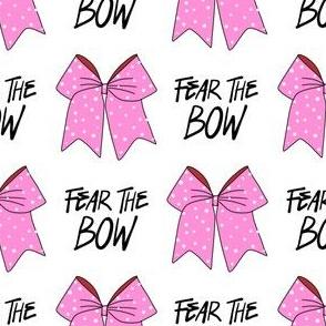 cheer fabric - cheerleading, school spirit, school sports, school, bow, fear the bow, cheer fabric -pink