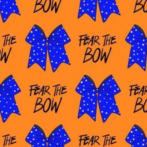 cheer fabric - cheerleading, school spirit, school sports, school, bow, fear the bow, cheer fabric - blue and orange