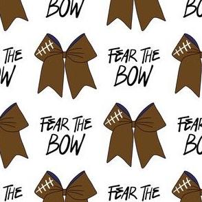 cheer fabric - cheerleading, school spirit, school sports, school, bow, fear the bow, cheer fabric - americanfootball