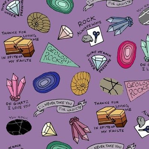 Geology is Pun in purple