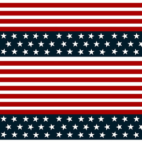 red white blue stars stripes- LMED7