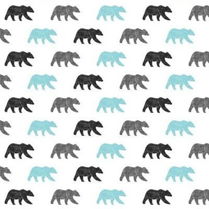 (extra small scale) multi bear || grey & teal