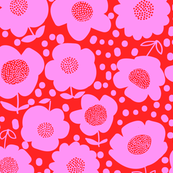 Buttercups_Red/Fuchsia