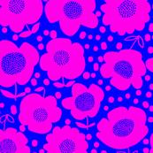 Buttercups_RoyalBlue/Fuchsia