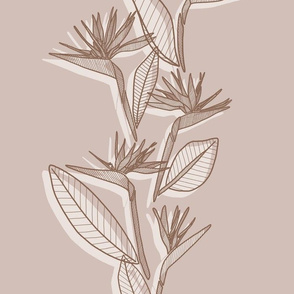 Misaligned Vertical Bird Of Paradise Brown Tones